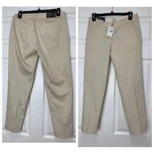 J. CREW Womens Size 2 Ivory City Fit Skimmer Pant
